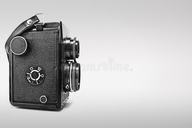 Macchina fotografica reflex gemellare dell'annata fotografia stock libera da diritti