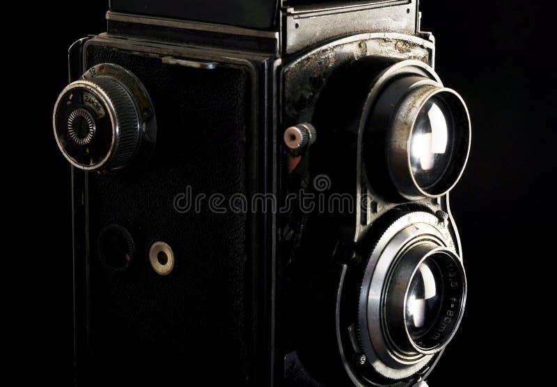 Macchina fotografica reflex gemellata dell'annata immagini stock libere da diritti