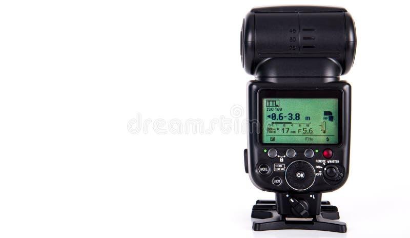 Macchina fotografica Speedlight istantaneo immagine stock libera da diritti