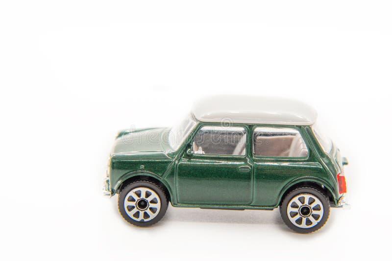 Macchina giocattolo mini-cooper fotografie stock libere da diritti