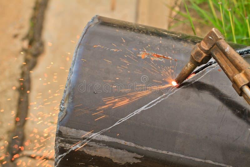 Macchina ossitaglio del gas fotografia stock