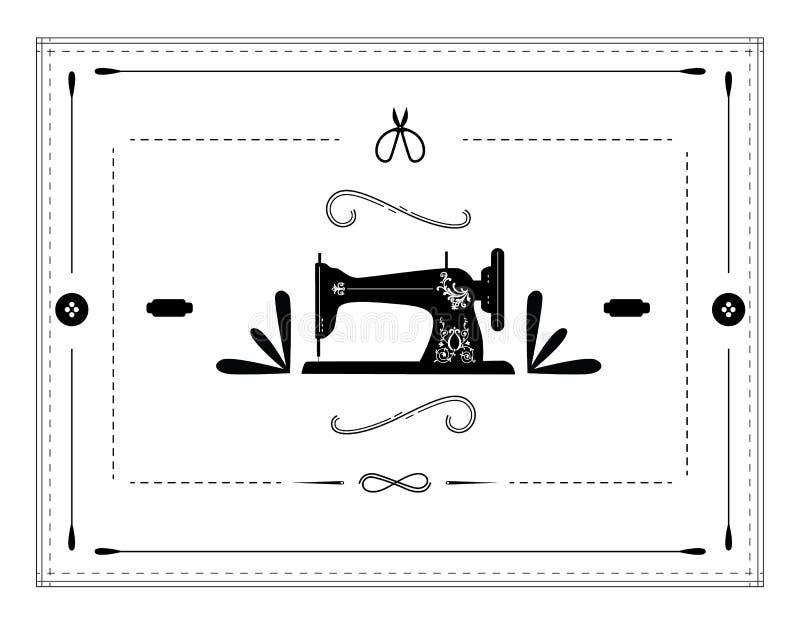 Macchina per cucire dell'annata illustrazione vettoriale