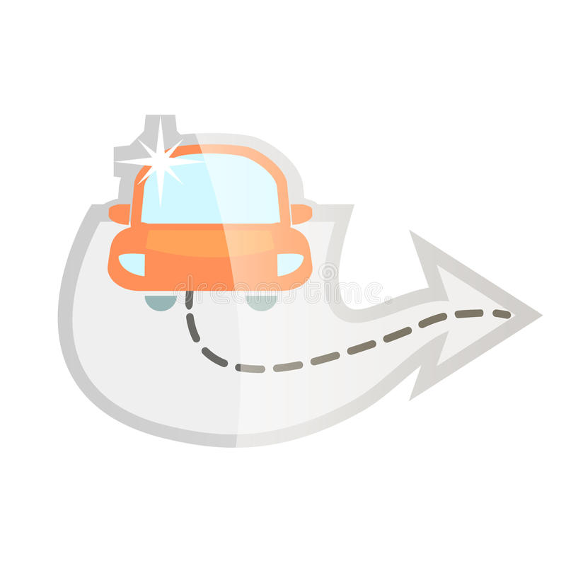 Macchina pulita di Washington dell'automobile, lavaggio di automobile con la spugna e tubo flessibile immagini stock