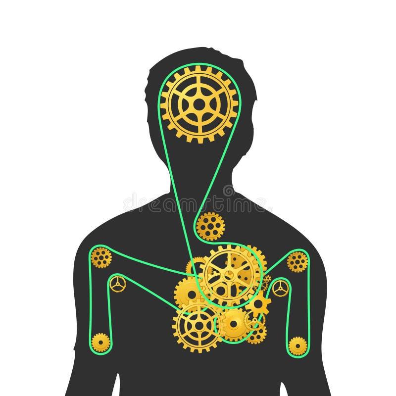 Macchina umana illustrazione vettoriale