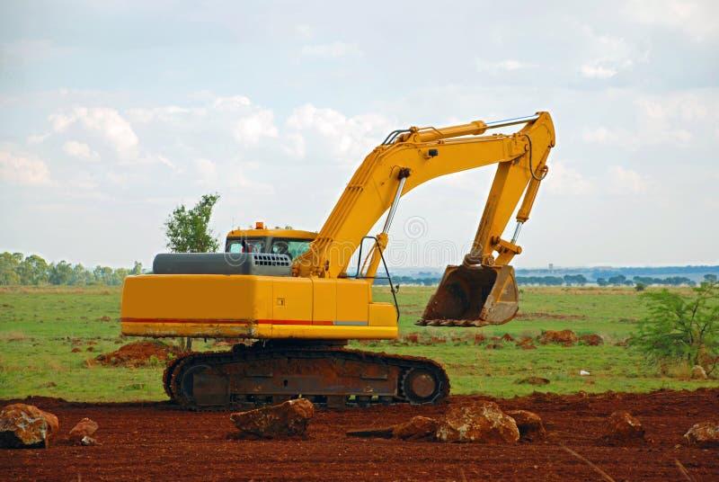 Macchinario di costruzione dell'escavatore fotografie stock