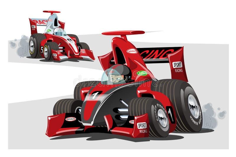 Macchine da corsa di sport del fumetto di vettore isolate su bianco royalty illustrazione gratis