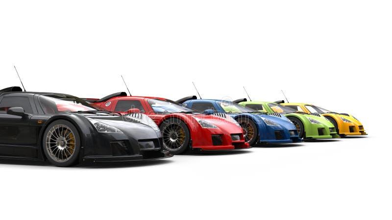 Macchine da corsa impressionanti - varie pitture di colore royalty illustrazione gratis