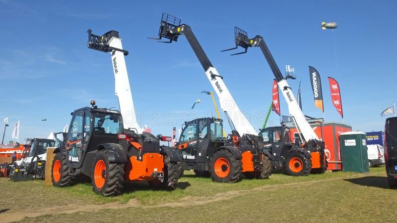 Macchine e trattori ai campionati nazionali di soffiatura Co Carlow Ireland il 19 settembre 2019 fotografia stock libera da diritti
