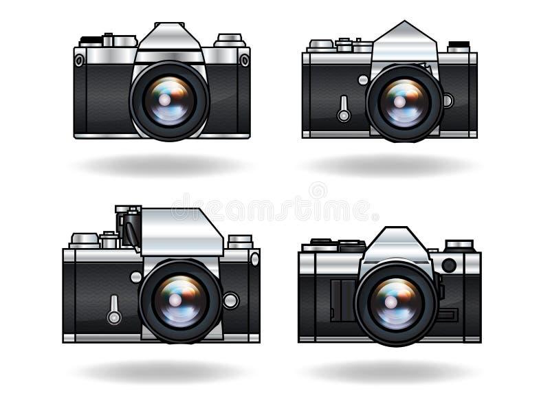 Macchine fotografiche analogiche fotografia stock