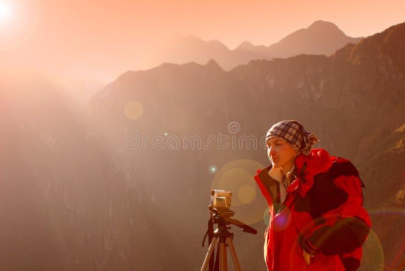 Macchu Pichu Photographer royalty free stock image
