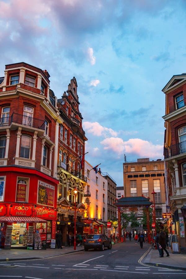 Macclesfield街唐人街伦敦苏豪区W1伦敦英国 免版税库存图片