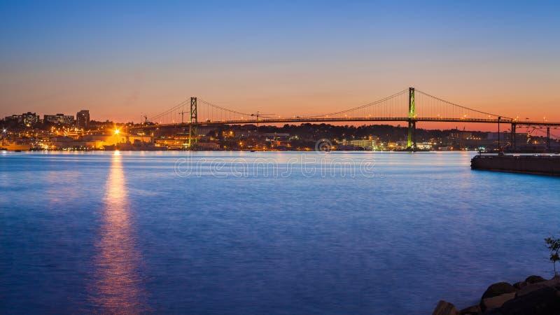 Macdonald Bridge, Halifax royalty-vrije stock afbeeldingen