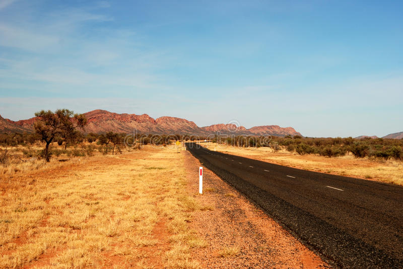 MacDonnell Ranges Road stock images