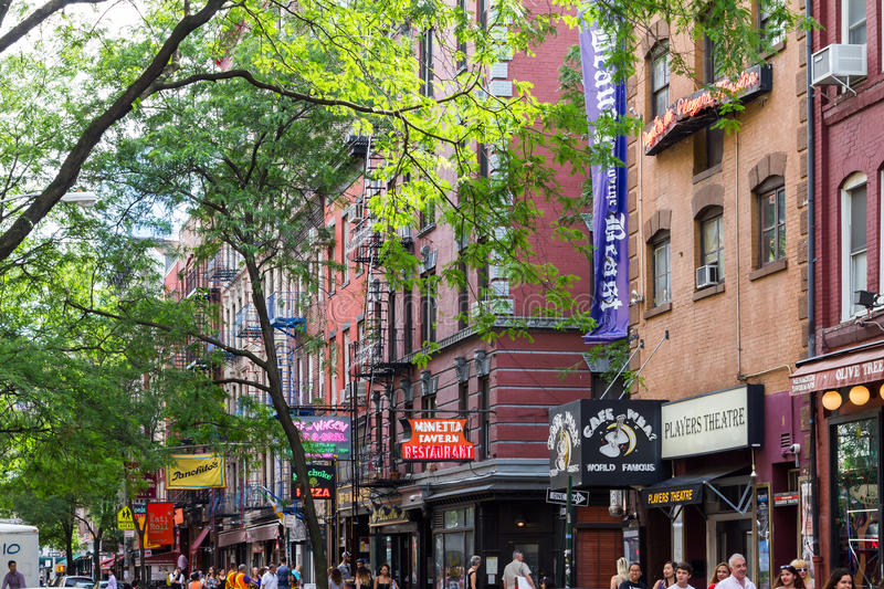 Macdougal Street in Greenwich Village in New York City royalty free stock photography