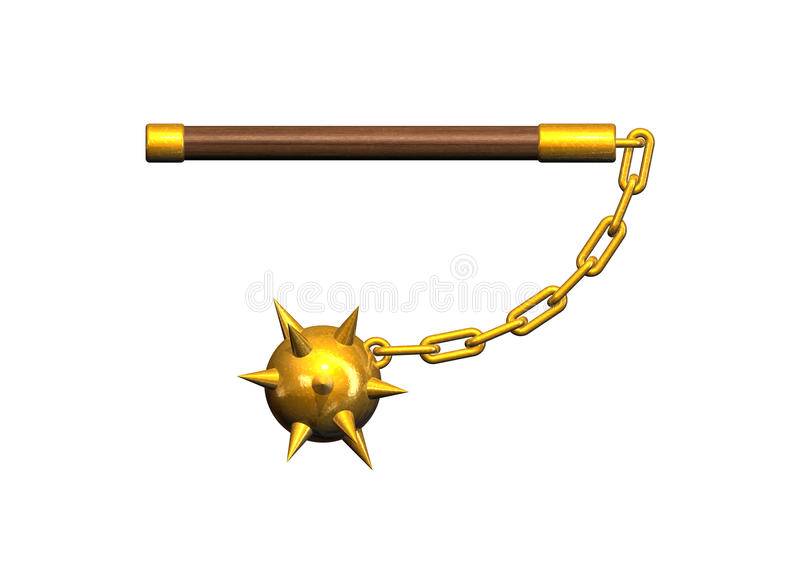 Mace. 3d render image with a mace vector illustration