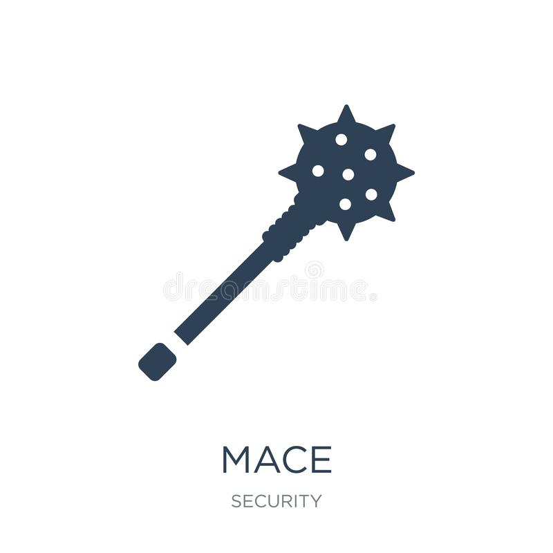 Mace icon in trendy design style. mace icon isolated on white background. mace vector icon simple and modern flat symbol for web. Site, mobile, logo, app, UI stock illustration