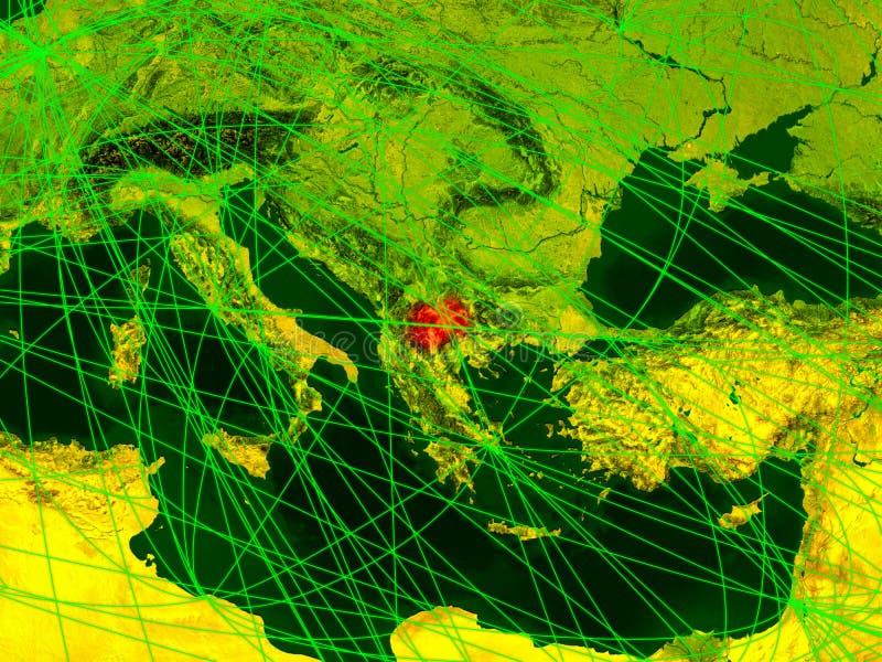 Macedônia no mapa digital ilustração stock