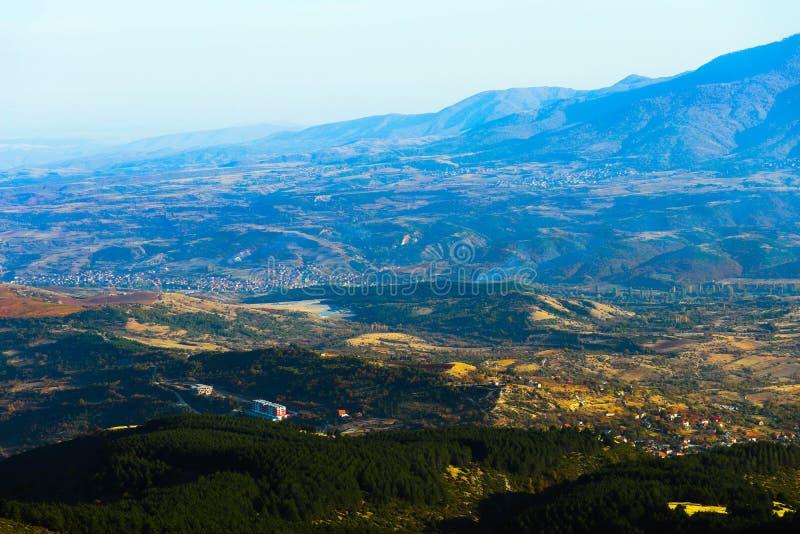 Macedônia, Skopje, vista do monte de Vodno Europeu bonito fotos de stock
