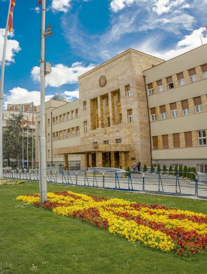 Macedoński parlament w Skopje, Macedonia zdjęcia royalty free
