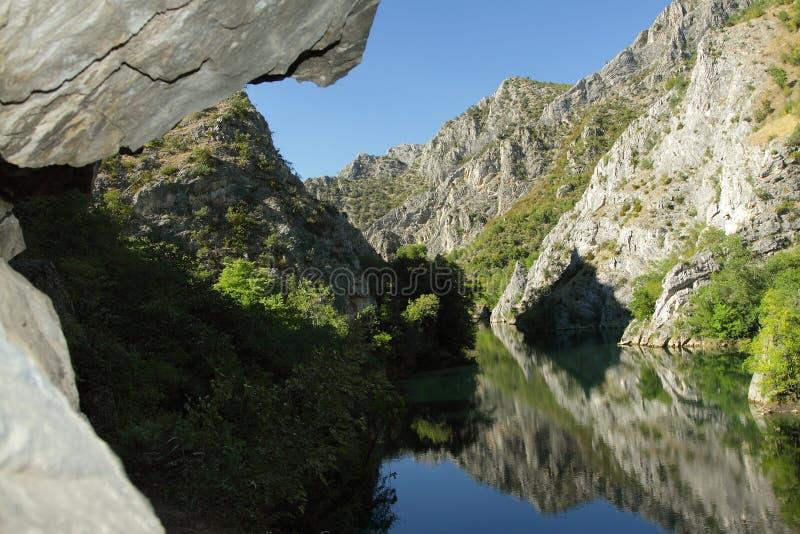 Macedonië, Canion Matka royalty-vrije stock foto's