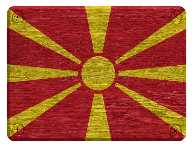 Macedonia flaga fotografia royalty free