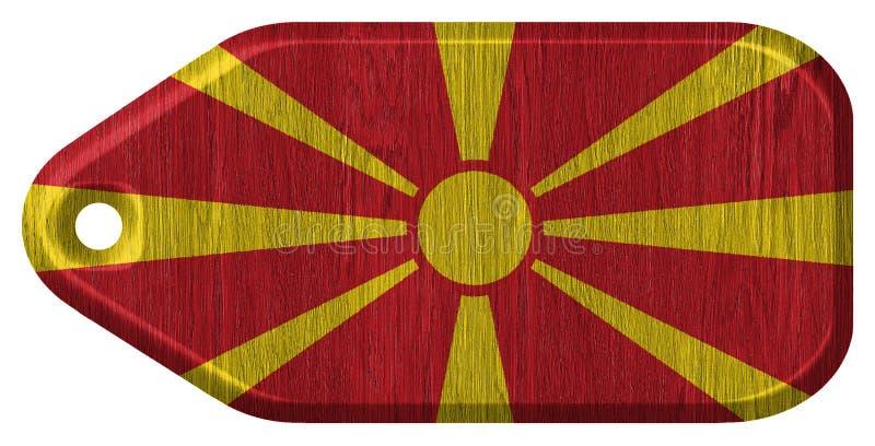 Macedonia flaga obrazy stock