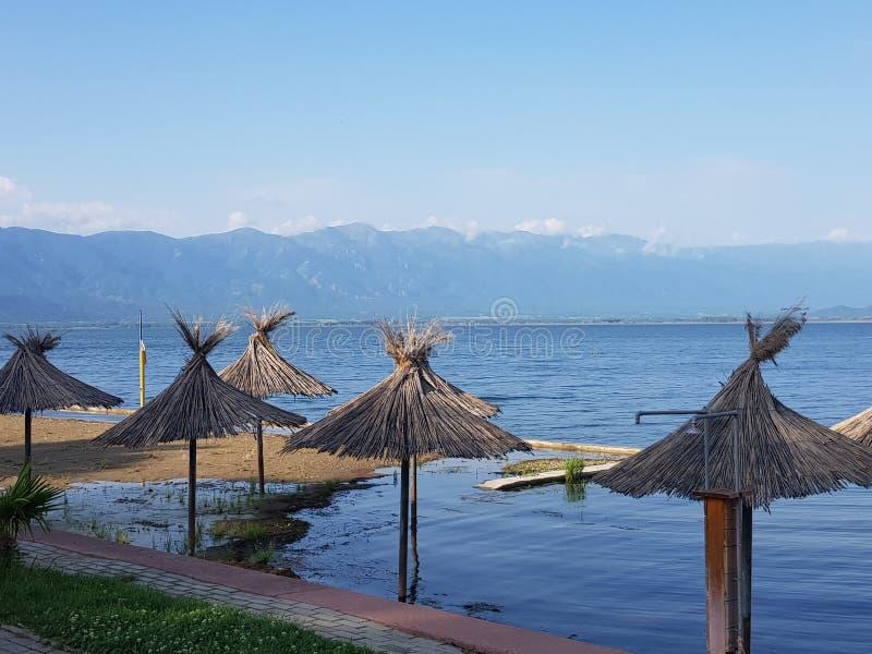 Macedonia intemporal, dojran, lago del doyran fotografía de archivo