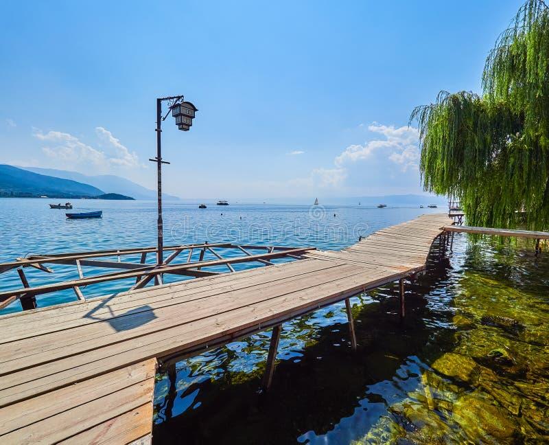 macedonia jeziorny ohrid obraz royalty free