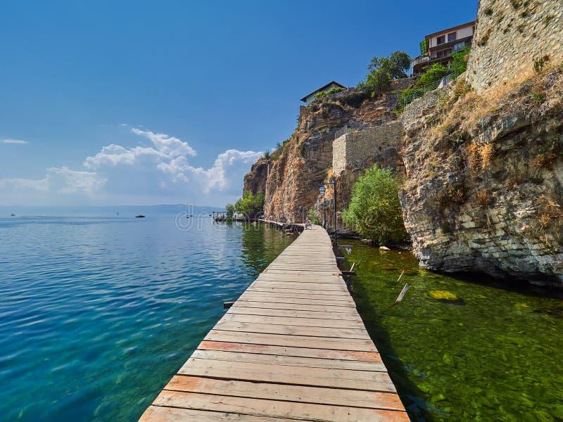 macedonia jeziorny ohrid fotografia royalty free