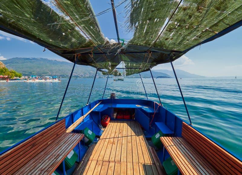 macedonia jeziorny ohrid obrazy royalty free