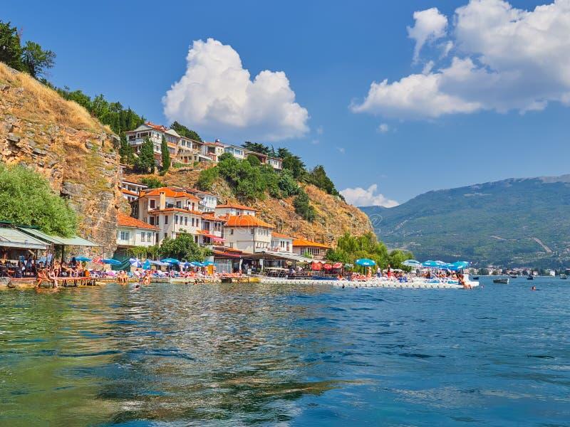 macedonia jeziorny ohrid obraz stock