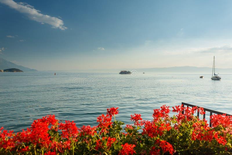 macedonia jeziorny ohrid zdjęcia royalty free