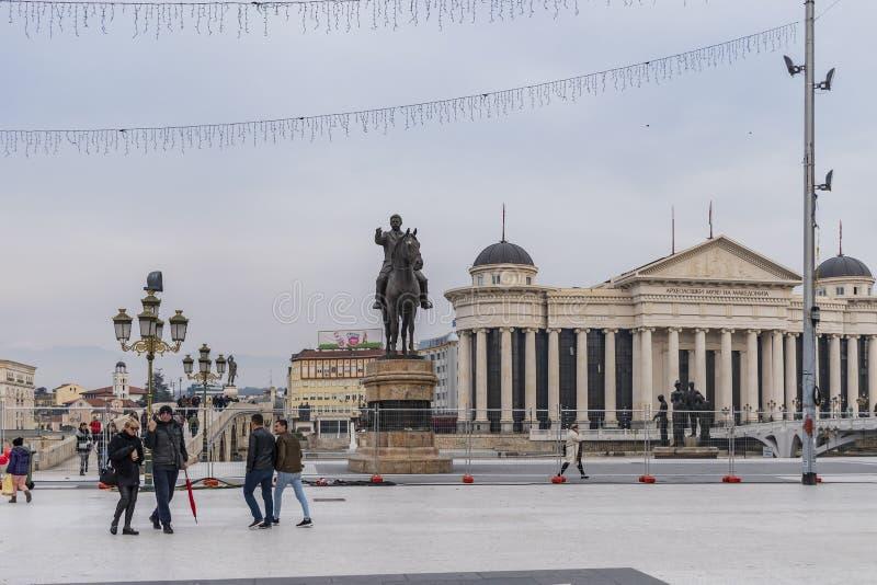 Macedonia kwadrat, Skopje zdjęcia stock
