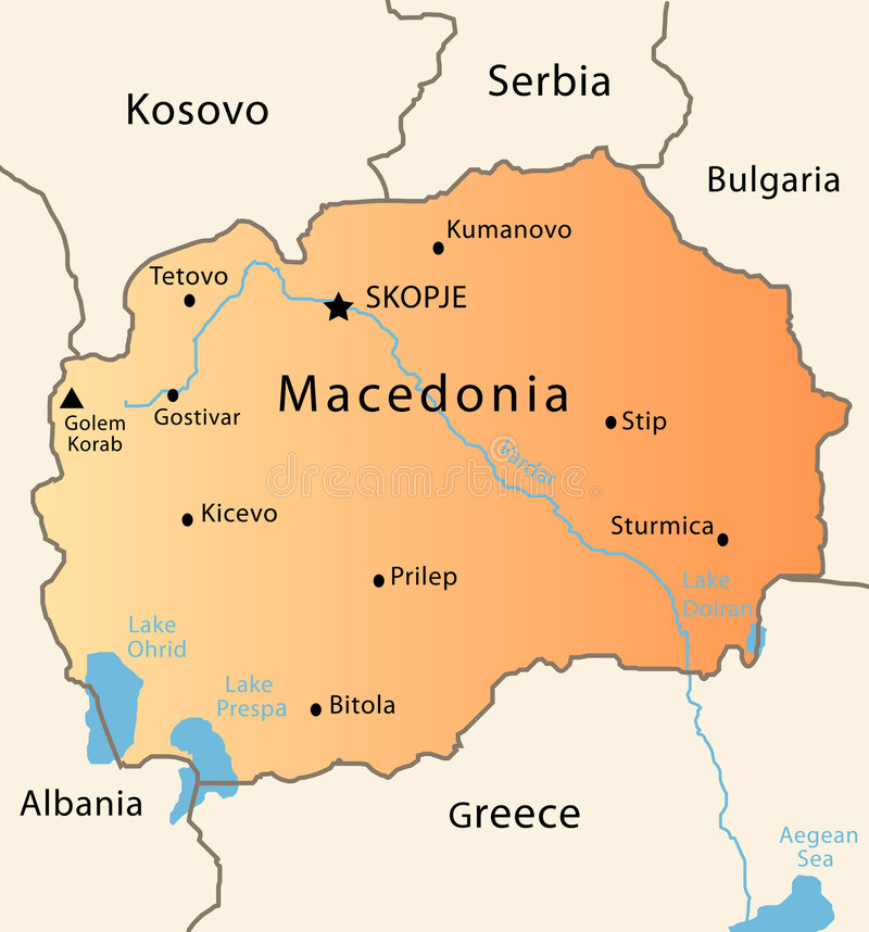 Macedonia map stock vector Illustration of geographical 8525049