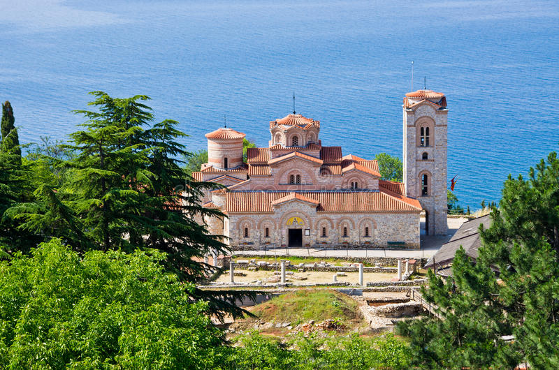 macedonia monasteru ohrid panteleimon święty zdjęcia stock