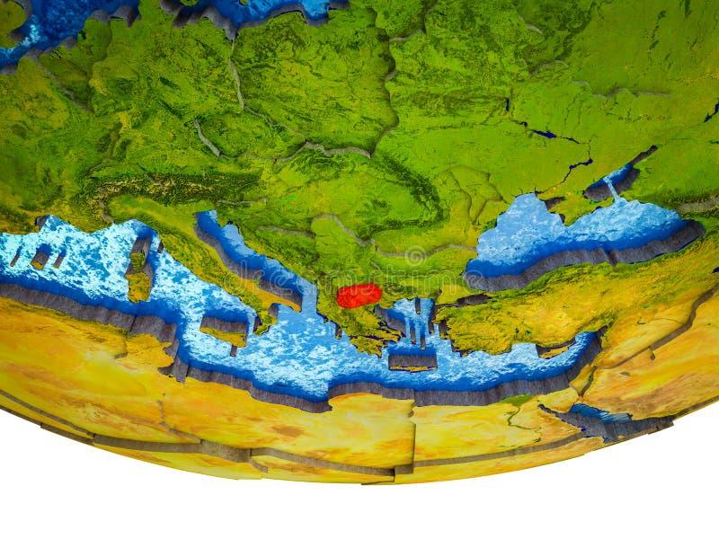 Macedonia na 3D ziemi fotografia stock