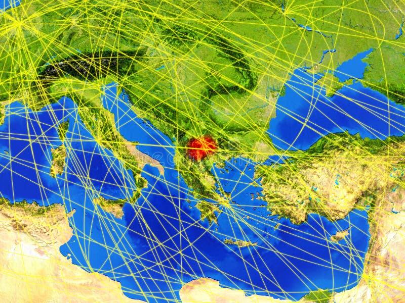 Macedonia na ziemi z siecią obraz stock