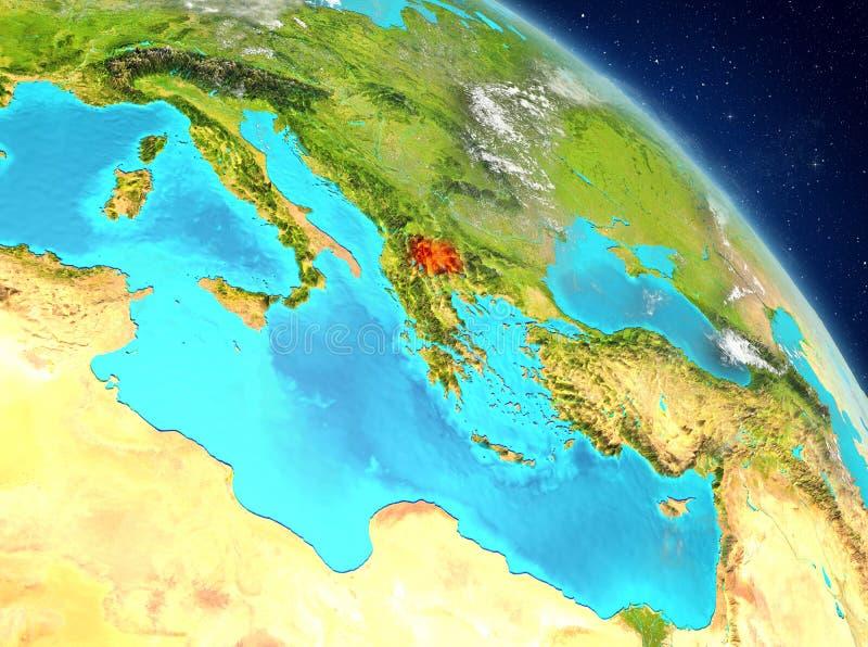 Macedonia od orbity obrazy stock