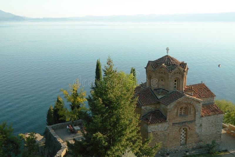 Macedonia, ohrid/Ochrid, Świątobliwa Jovan Kaneo świątynia zdjęcie stock