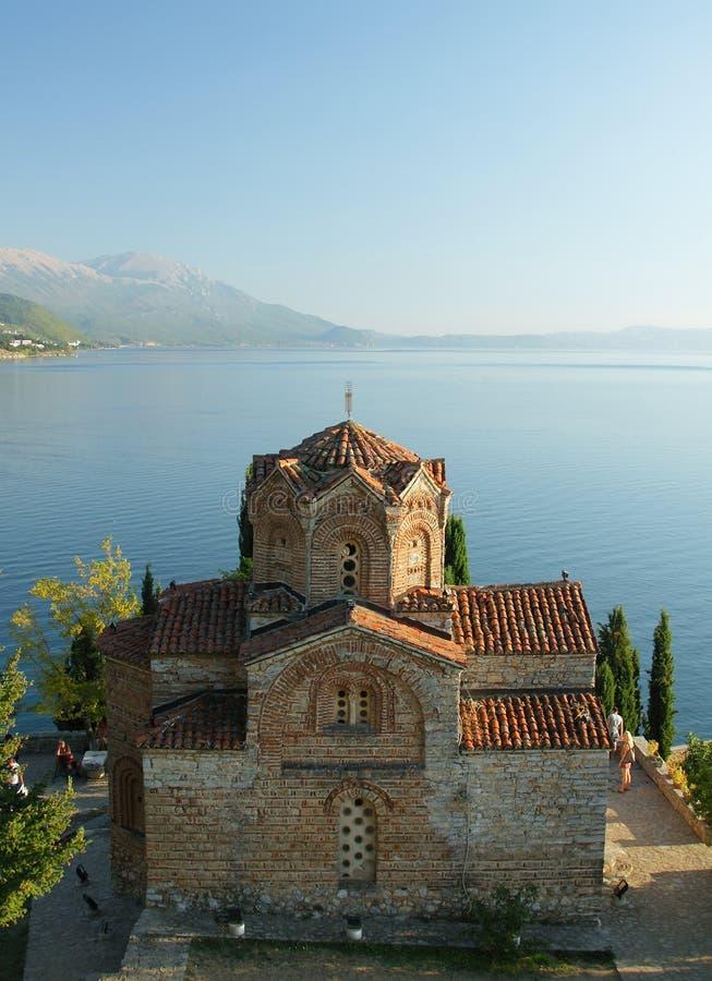 Macedonia, ohrid/Ochrid, Świątobliwa Jovan Kaneo świątynia zdjęcie royalty free