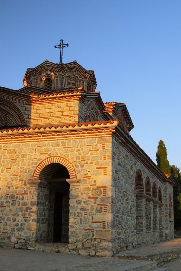Macedonia, Ohrid, Świątobliwy kościół, Łagodny i Pantelimon obraz royalty free