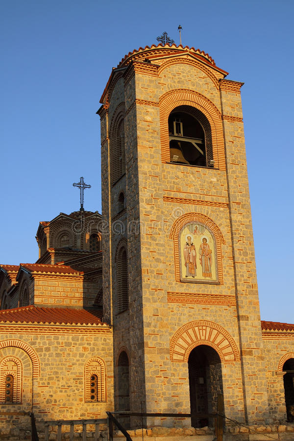 Macedonia, ohrid/Ochrid, Świątobliwy kościół, Łagodny i Pantelimon fotografia royalty free