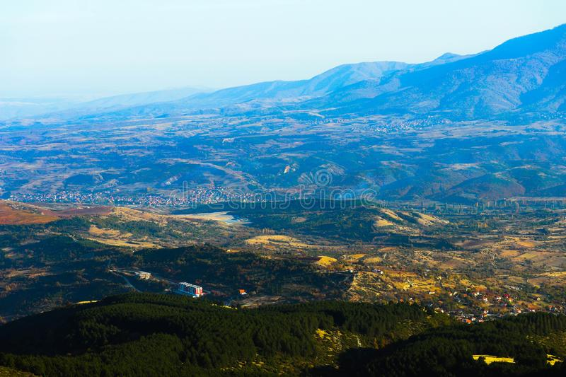 Macedonia, Skopje, view from the Vodno hill. Beautiful European stock photos