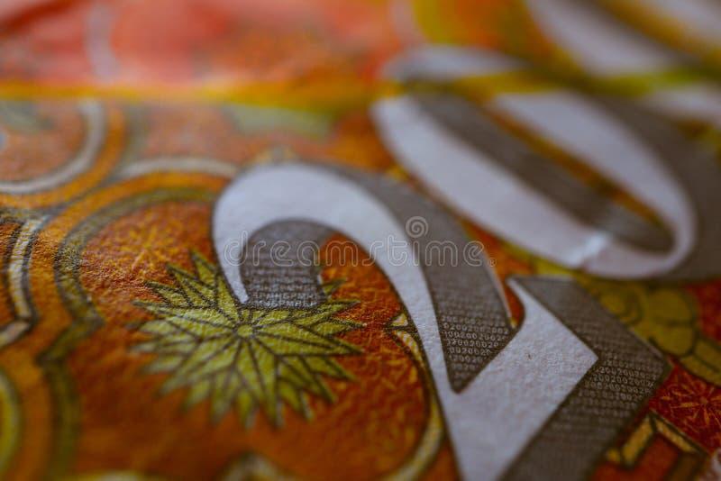 Macedonia waluty denar banknotu wzoru tło, zakończenie obraz royalty free