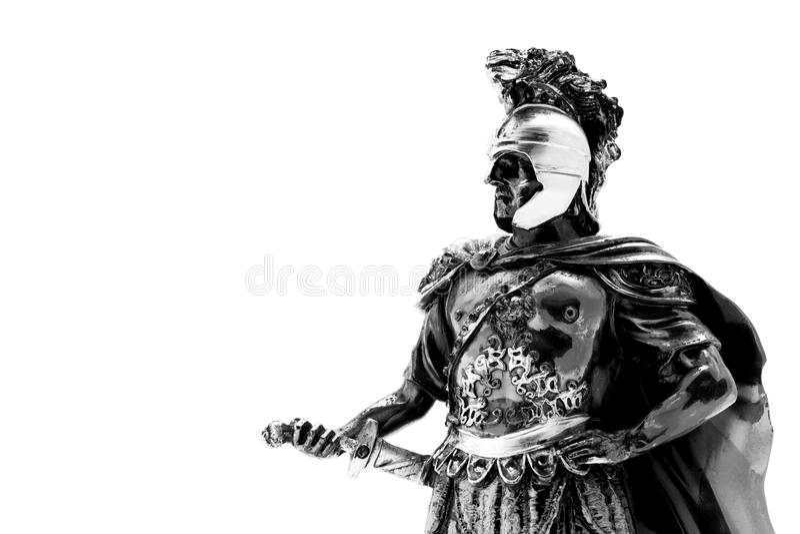 Macedonia warrior. Isolated on the white background stock image