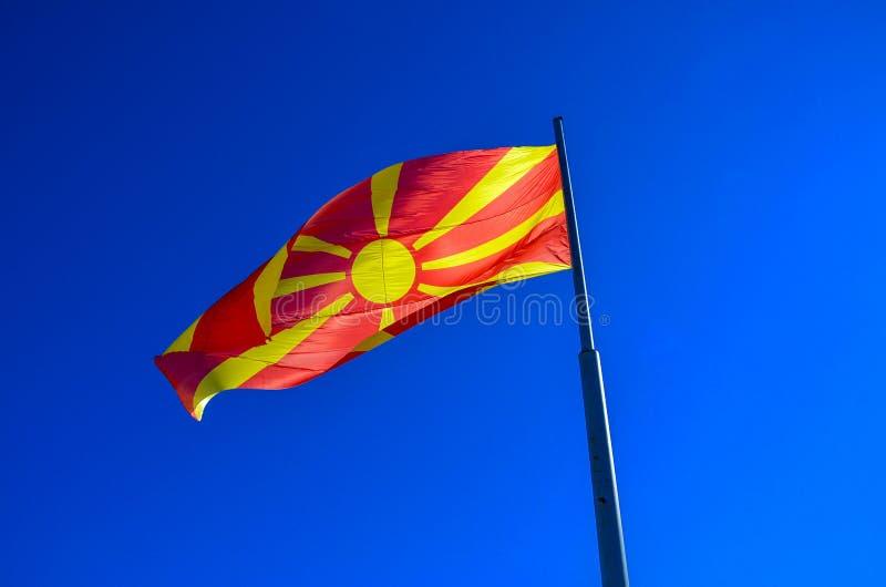Macedonian vinka för flagga fotografering för bildbyråer