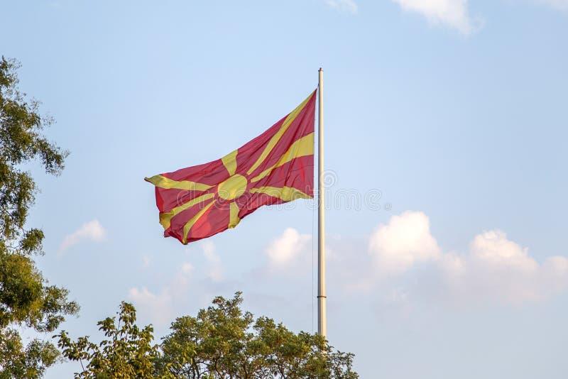 Macedonianen sjunker arkivfoto