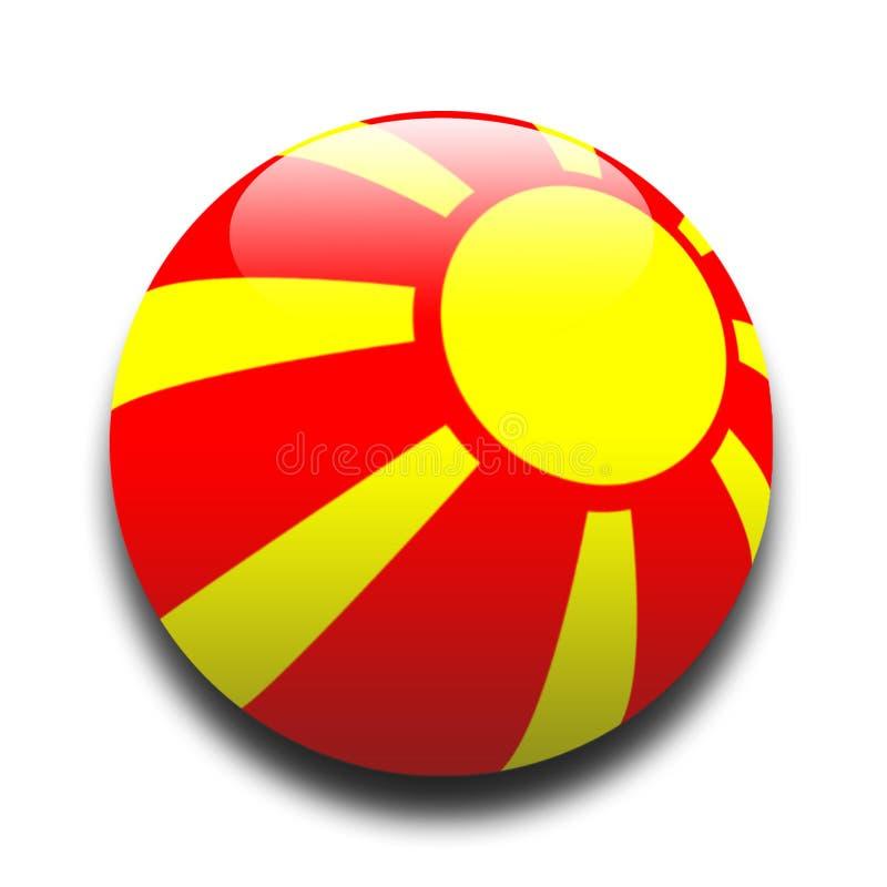 Macedonische Vlag Stock Afbeelding