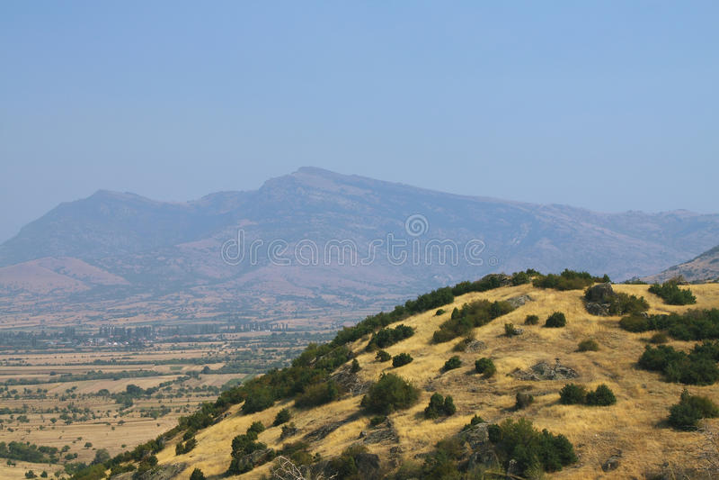 Macegonia, região de Pelagonia, fora da cidade de Prilep, montanhas do babá fotografia de stock royalty free