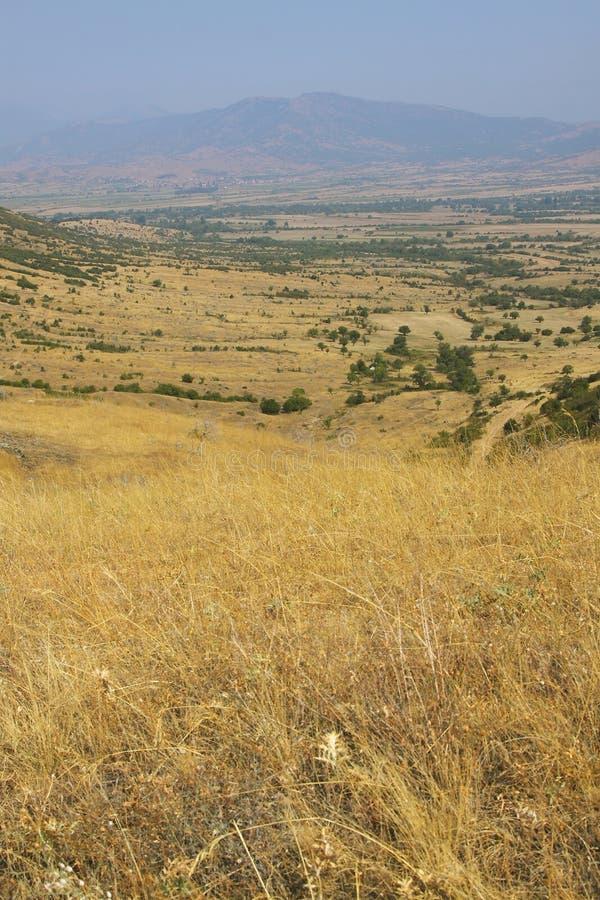 Macegonia, região de Pelagonia, fora da cidade de Prilep, montanhas do babá fotos de stock